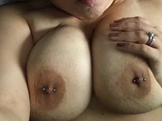 My slut wife's huge tits need to be covered in cum.