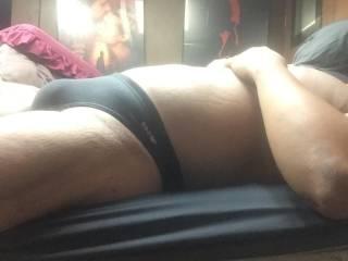Black speedo bulge