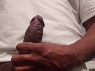 Stroking my cock for the cam, I hope you like it.