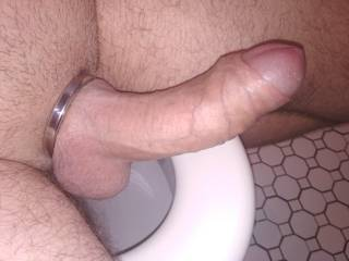 Wearing cock ring all day... and this happened :)