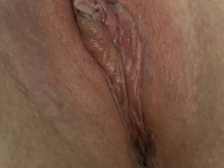 Anyone want to tribute my wet pussy? Cover my lips with your cum!