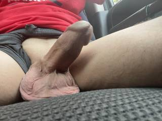 Just hanging out in the car…