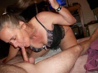sucking hubbys cock