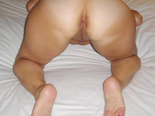 I'm behind you and your delicous ass and pussy right now, do you feel the tickle and something hard?