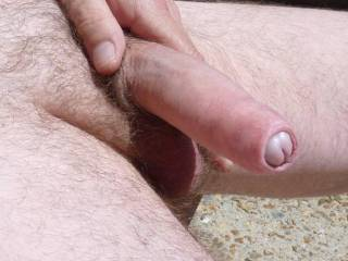 uhmmm...nice cock and foreskin...would love to take your cock in my mouth and let my tongue play with your foresskin and cockhead before you slide into my wet pussy...