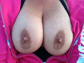 Wow!!! Those nipples are hard. They look like they need some hot cum to warm them up.