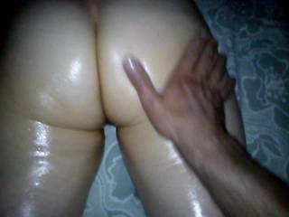 The view of her awesome ass was nice....!  I like doing the same to ANY lady's ass, and actually,I enjoy having it done me as well!