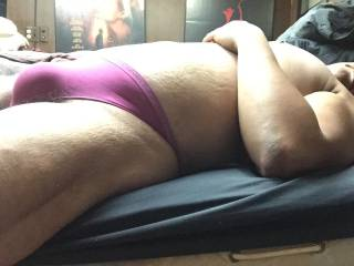 Pink Calvin Klein bulge