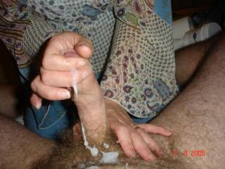 Eve gave me a handjob....I made quite the mess...but she cleaned me up with her tongue...any else ready??