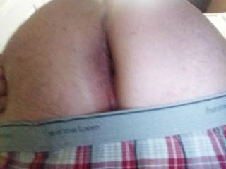 because i posted a few of her ass she said i had to post some of mine... and she wants to see some one fuck my ass any takers?