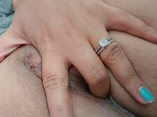 Love to watch my girl finger herself before I fuck that sweet pussy anyone else wanna watch?