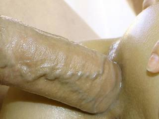 Love Having His Cock All Lubed Up - So It Slides Right Down My Asshole...
