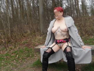 hi all took a little rest during our forest walk  dirty comments welcome mature couple