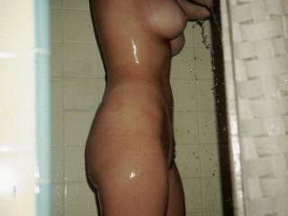 Sweetie I'll get in the shower with you and let you soap up my cock.  Then I'll soap up your entire sexy body. :)
