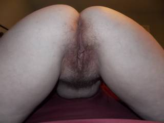 I'd love to fill her sweet hairy pussy. LOVE that pussy hair. I'd have to taste her first.