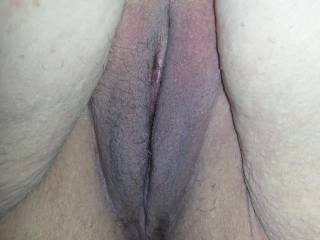 Her pussy before squirting, and being fucked.