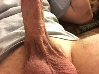 I got horny on the couch. My cock got rock hard and I wanted you to see.