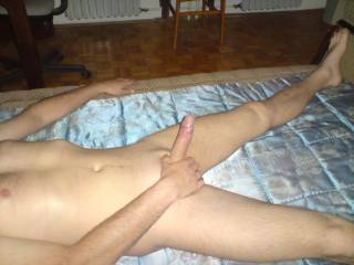 Nice smooth hard cock, I'll play with it.