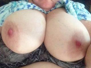 WOW....GREAT tits, I'd love 'em wrapped around my cock until I give 'em a creamy reward!
