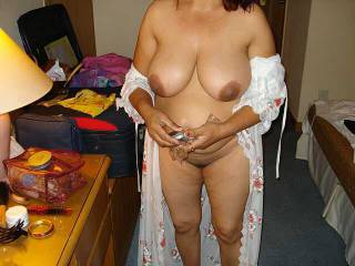 Wow love the big titties would gladly ease my stiff cock up your sexy body