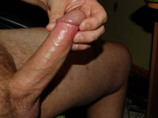 None at all! Fucking Gorgeous Cock :)