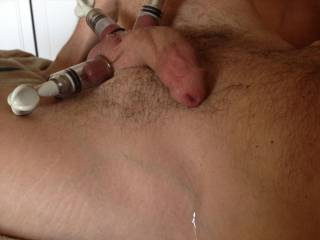 We thought nipple/clit suction cups might be fun..... Wow!!