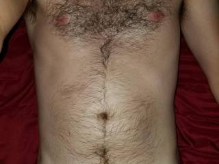Just a body shot for you. Who likes a little hair?