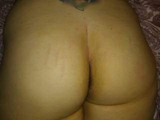 Hand print from spanking anyone else want a turn?