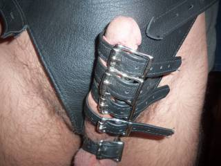 New leather thong