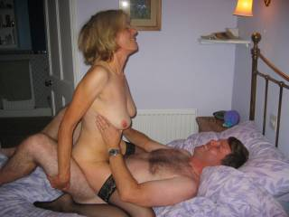 She was really enjoying this fuck(so was I) she has great tits and a nice tight hairy cunt