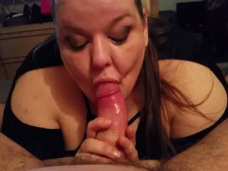 In the finale, she went at to to get me to cum in her mouth. I finally did and she eventually swallowed it.