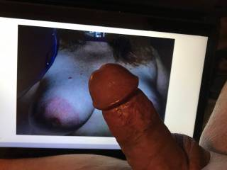 Great tribute from 69Feast, love that big cock slapped across and rubbing these big nipples....Thanks great job