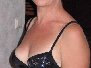 Black bra.