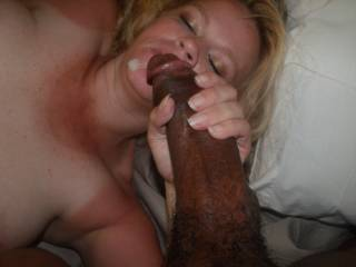 MY HUGE BLACK COCK COVERED TERESA WITH MY HOT STICKY CUM