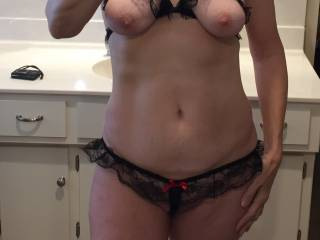 You have one very sexy body in your lingerie. Living proof that women gain sexiness with age ;-)