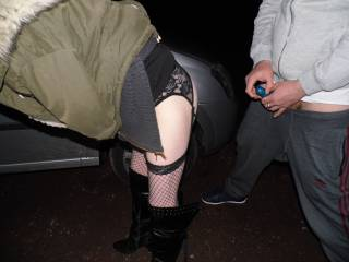 Just one of our friend getting ready to fuck Joanne