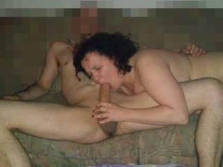She sucks the big cock of her fuck buddy