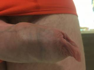 just more foreskin, can't get enough of it, love it when it's stretchedo out the way and kinda hangs off the end like that