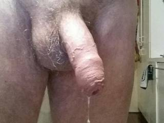 I would love to feel some one\'s mouth on my cock right about now. I am so horny that my cock is dripping pre cum.