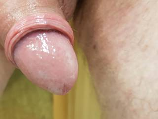 my cock fresh oiled