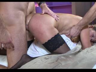 Caught between two lovers. one in my ass and the other in the mouth, I loved