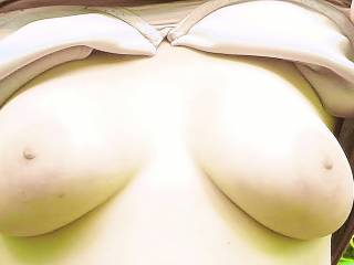 wife flashing her big tits at a public park