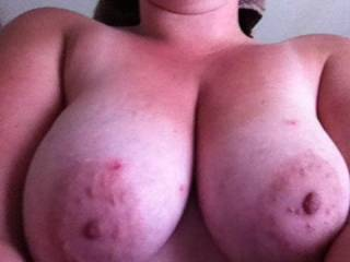 Wonderful breasts  marvelous areolas. delicious nipples.  like this one. got our vote. Hope you like ours. posted one nude today  Mike and Betty