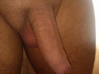 Here's my freshly shaved cock. Getting ready to fuck my gf