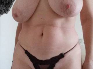 Showing off my tits enjoying watching the boys at the other side with their cocks ready to drill me