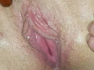 Freshly fucked juicy pussy
