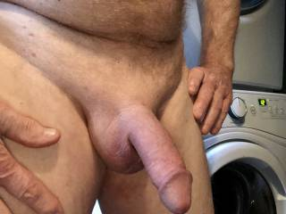Getting ready to shower and jerk off.