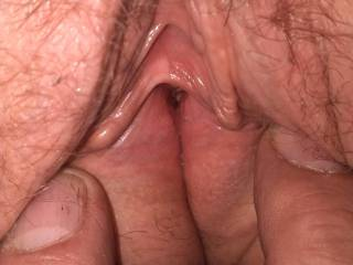spreading some tight pussy