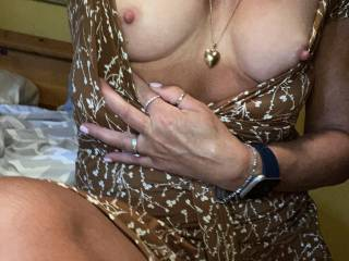 Someone told me they like dresses. Wonder if he thinks I'm wearing panties. 😉