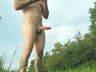 Naked Outdoor and very horny..